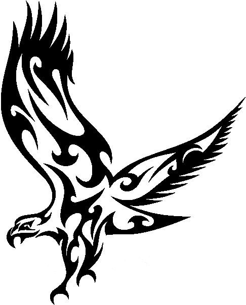 Eagle tribal. Stickers animals decal
