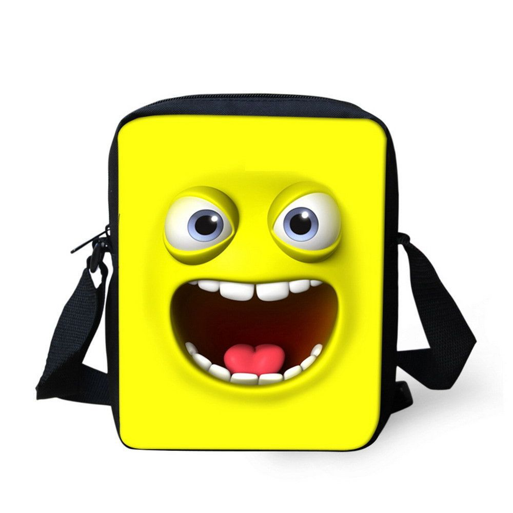 2016 Brand Women Handbag Smiley Messenger Bag Designer Girls Mustache Mini Messenger-bags for Lady Children Kids Crossbody Bag