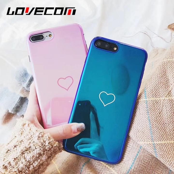 f49588b727 LOVECOM Blu-Ray Phone Case For iPhone 6 6S 7 8 Plus X Hot Korean Heart  Mirror Soft TPU Phone Back Cover Cases Best Gifts