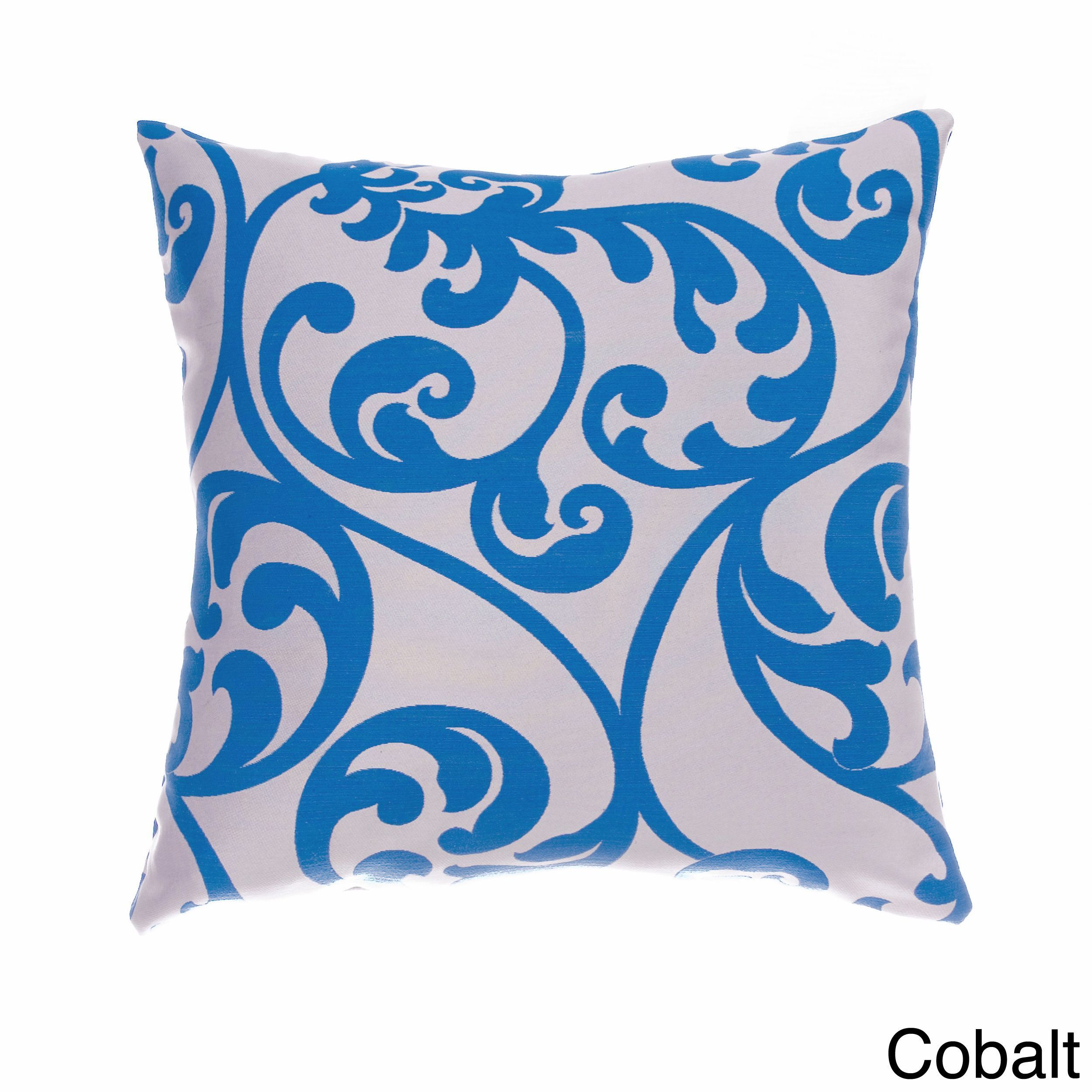 Softline Decorative 20-inch Throw Pillow (Cobalt), Blue, Size 20 x 20 (Cotton, Jacquard)