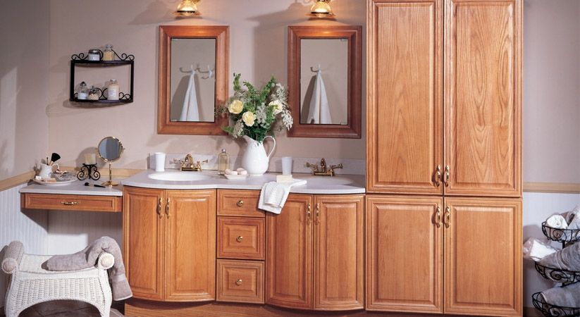 Raised Panel Medium Oak Cabinets from Home Depot Home Depot
