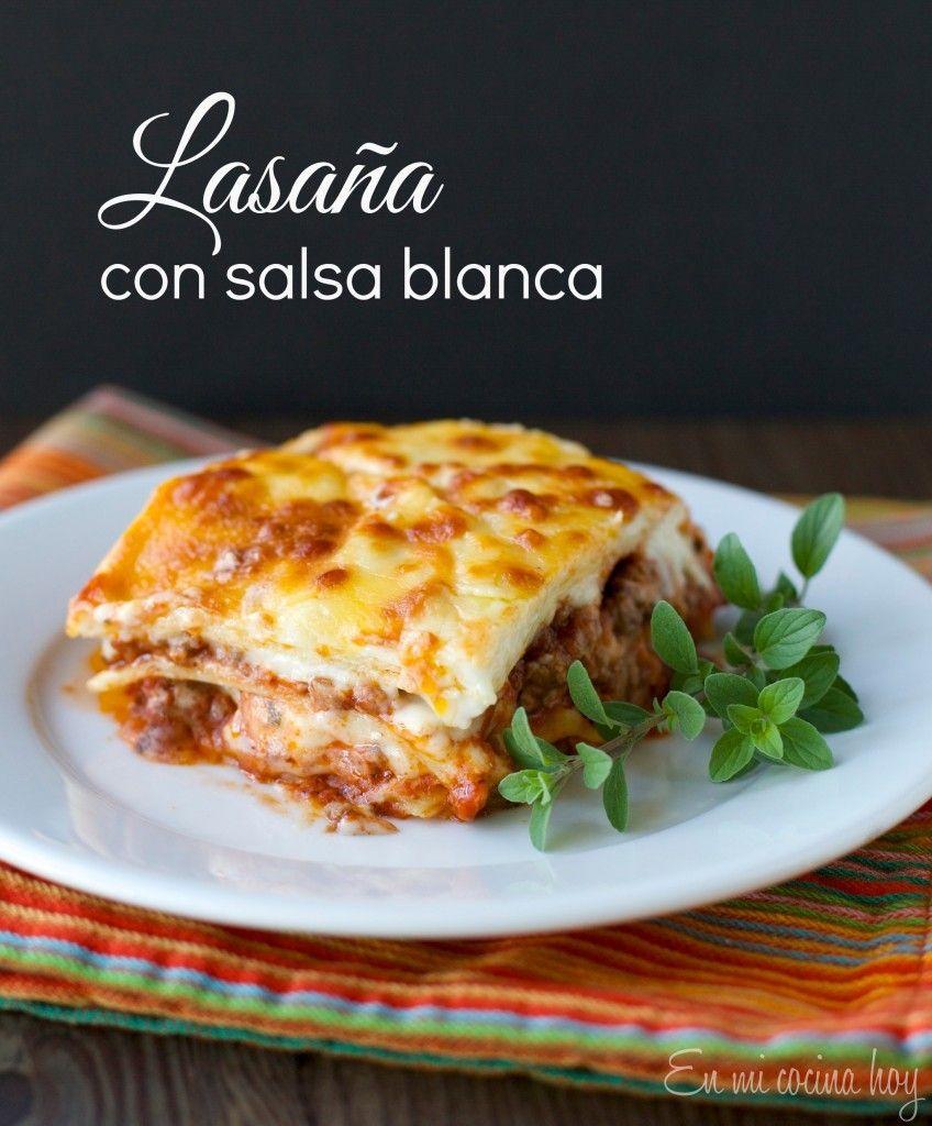 Lasaña con salsa blanca / Lasagna with white sauce | En mi cocina hoy