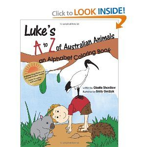 Luke's A to Z of Australian Animals: An Alphabet Coloring Book -- with yoga poses and ideas