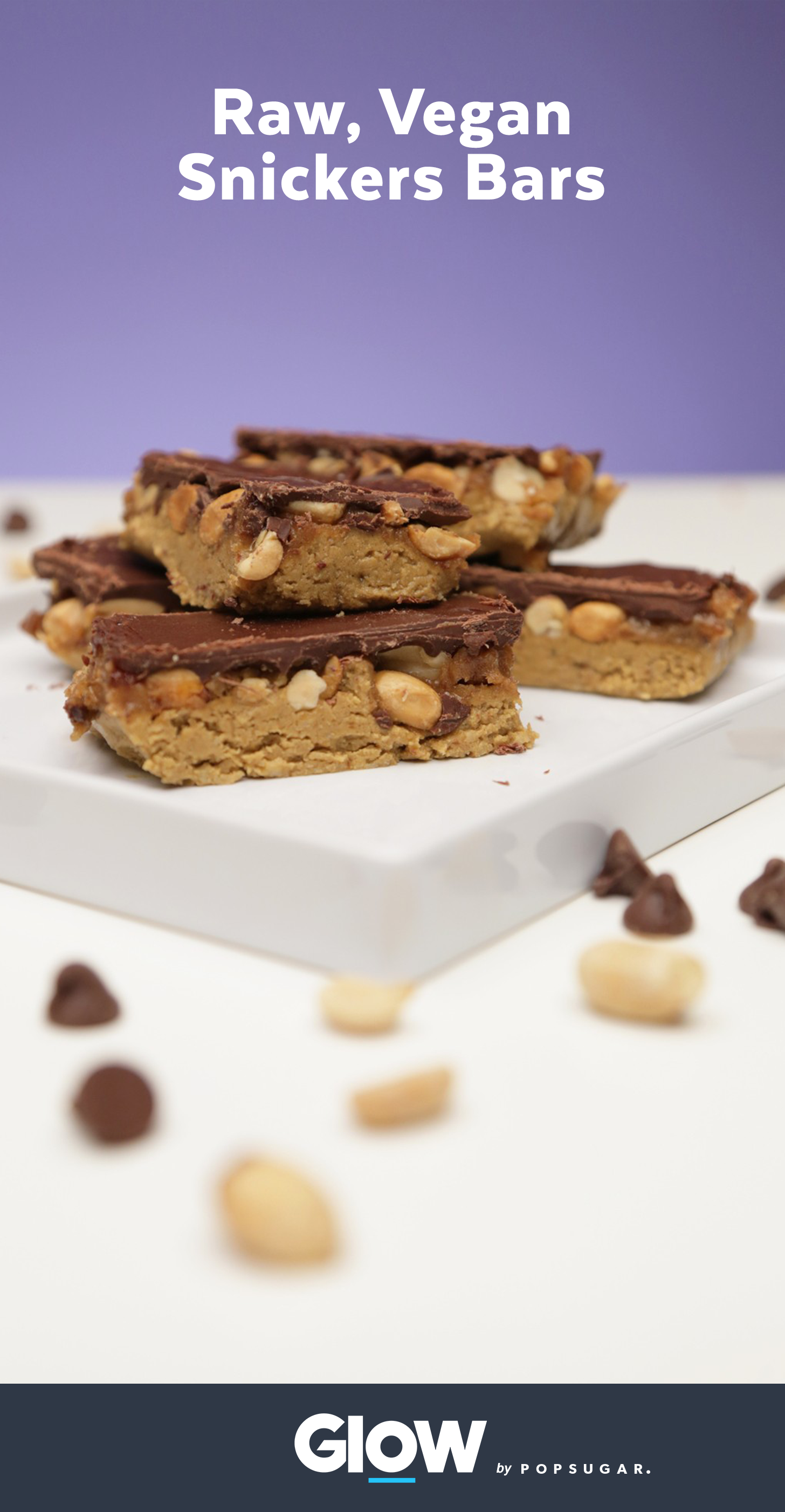 These raw vegan Snickers bars are absolutely to die for and they have more protein than a Clif bar.