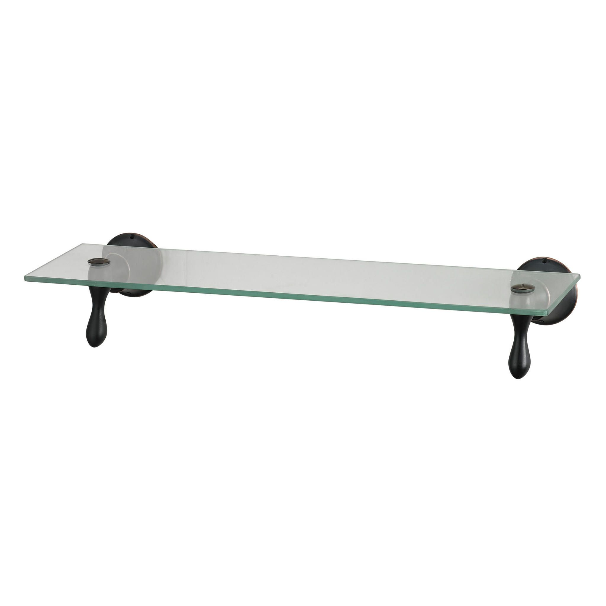 Glass Shelf With Oil Rubbed Bronze Accents from Contemporary ...