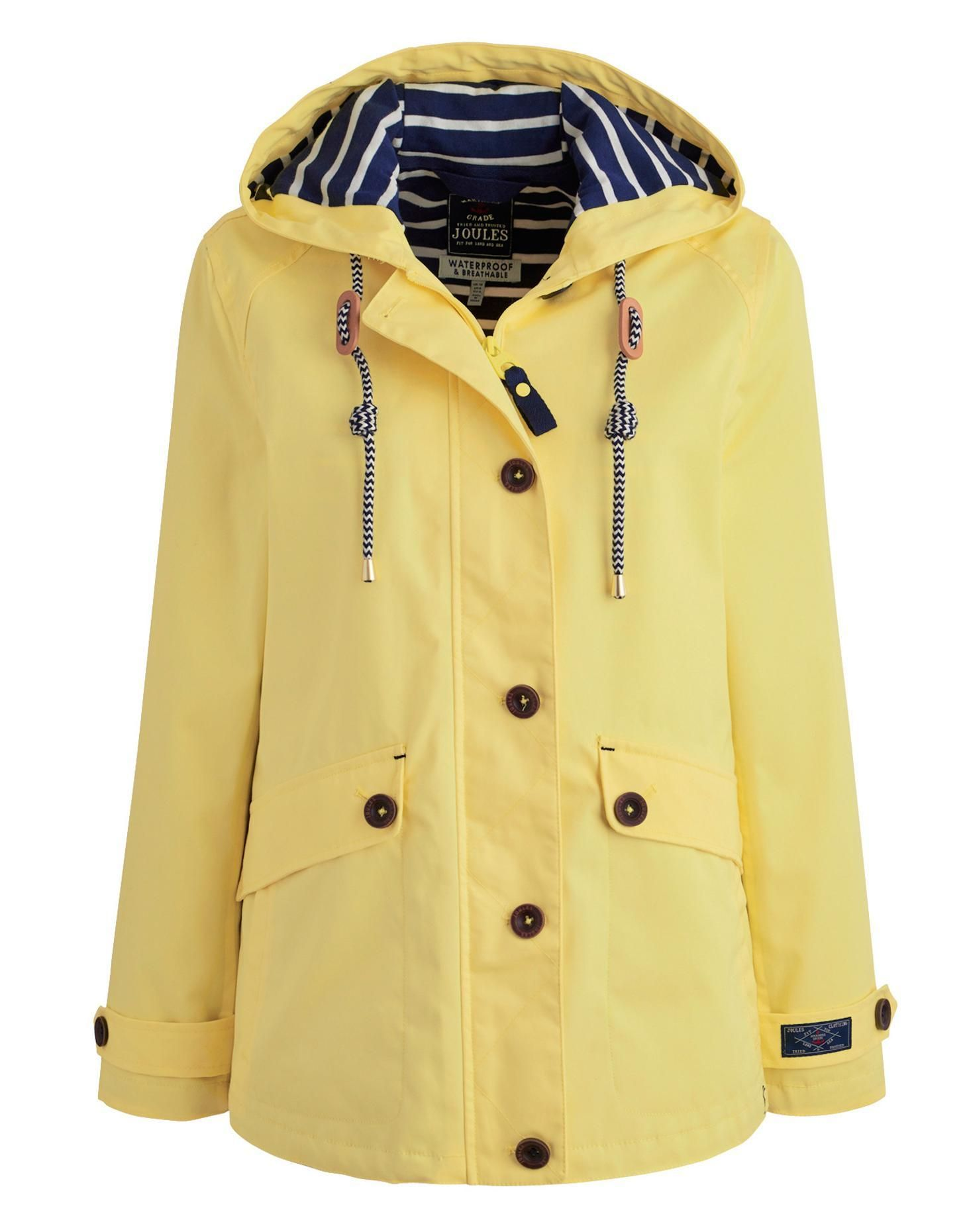Joules Women's Waterproof Hooded Jacket, Lemon. Part of our Right ...