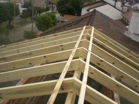 Construir hacer una cubierta tejado estructura de for Tejados de madera