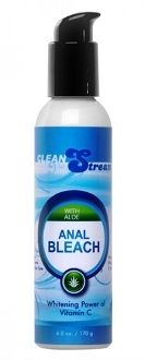 ANAL BLEACH WITH VITAMIN C AND ALOE -  Only a small amount is needed to whiten brighten and gently bleach your anal area. Vitamin C contains powerful antioxidants which encourage cellular renewal boost collagen improves skin tone and helps to correct excess pigmentation. The convenient mess-free pump top lets you squeeze out just the right amount. Made with natural ingredients such as soothing aloe ginseng green tea extract and citrus for gentle impressive results.