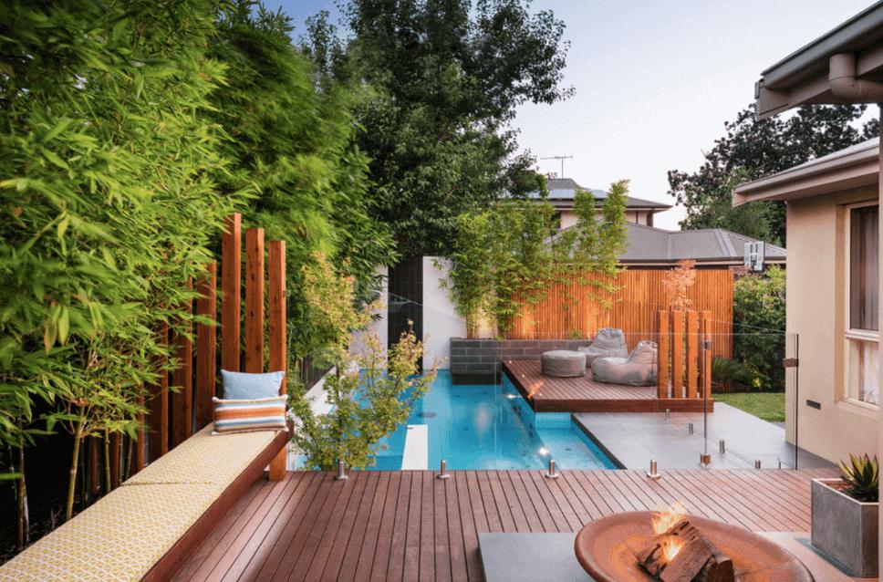 Home design outdoor deck ideas zen deck pool outdoor deck for Zen pool design