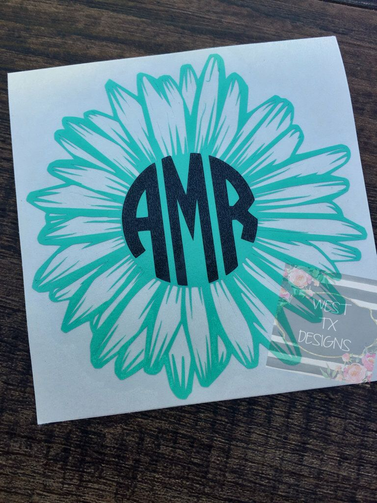 Car decals design your own - Gerbera Daisy Gerbera Daisy Decal Flower Decal Flower Monogram Gerbera Daisy Monogram Personalized Flower Yeti Decal Car Decal By