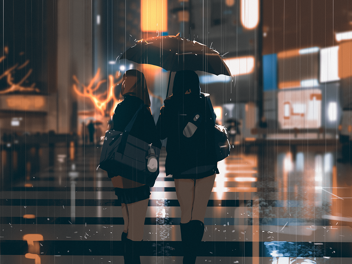 snatti Art, Anime scenery, Anime art
