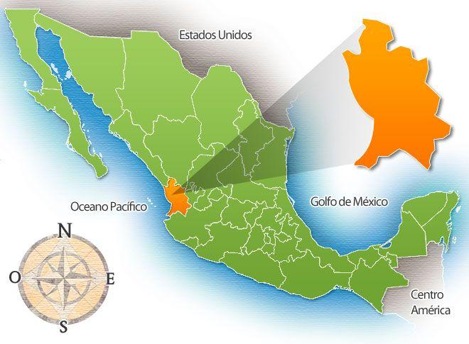Mapa De Nayarit  Estado de Nayarit 23 MEXICAN STATE BY AREA