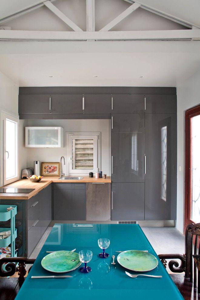 armarios cocina suspendidos   Diseños de cocinas   Pinterest ...