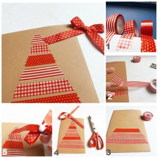 Tarjetas de navidad originales hechas a mano 4 manu - Tarjetas de navidad faciles ...
