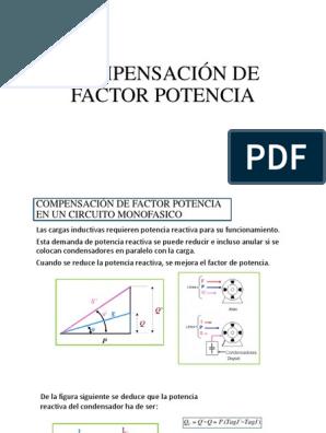 que es el factor de potencia pdf