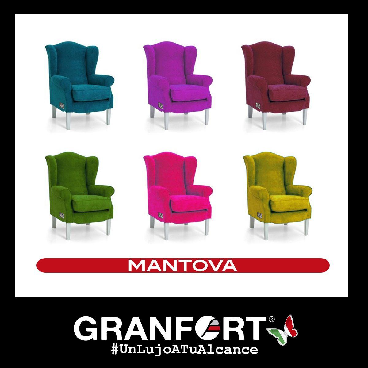 Notas refrescantes  de la mano de nuestra Butaca Mantova un clásico renovado de Sofás  Granfort,. Hay infinidad de tapicerías y colores a elegir ¿Cuál es la tuya?