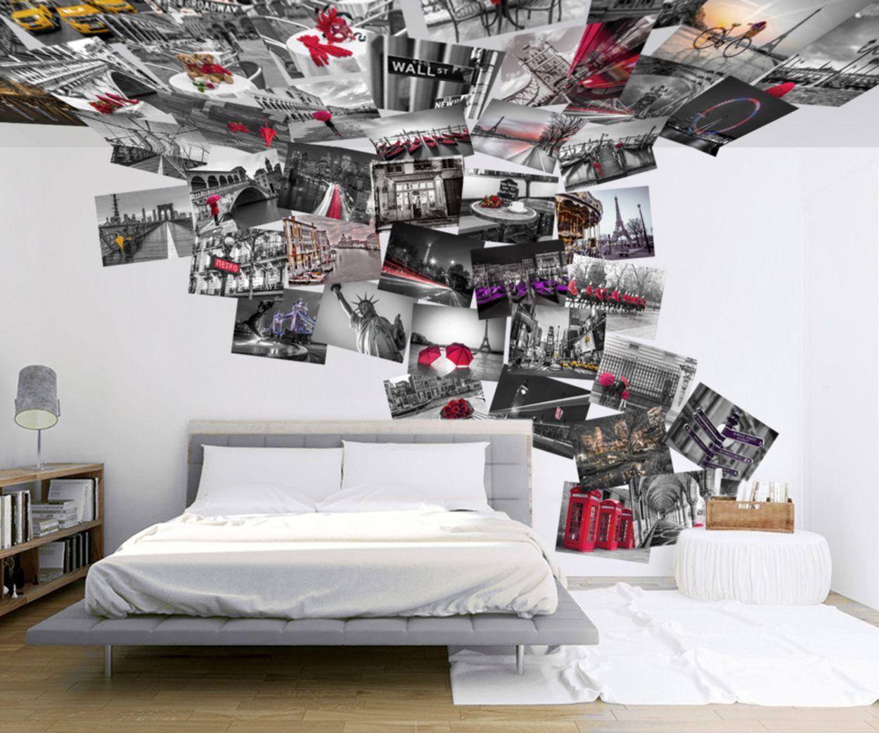 Creative collage ciudades del mundo ideas para el hogar decoracion con papel pintado - Mundo del papel pintado ...
