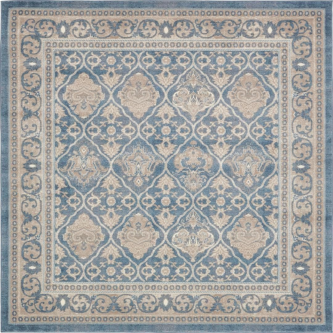 Light Blue 8 X Vienna Square Rug Area Rugs Erugs