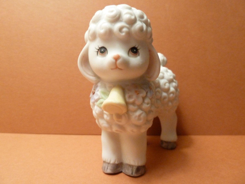 Lamb Figurine by: Lefton by BjsDoDads on Etsy