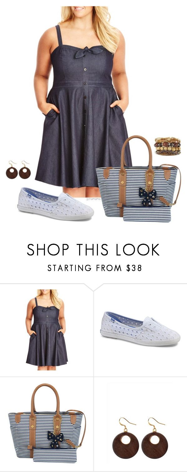 """""""Saturday, stay a little longer!- plus size"""" by gchamama ❤ liked on Polyvore featuring City Chic, Keds, Samantha Thavasa and Jaeger"""