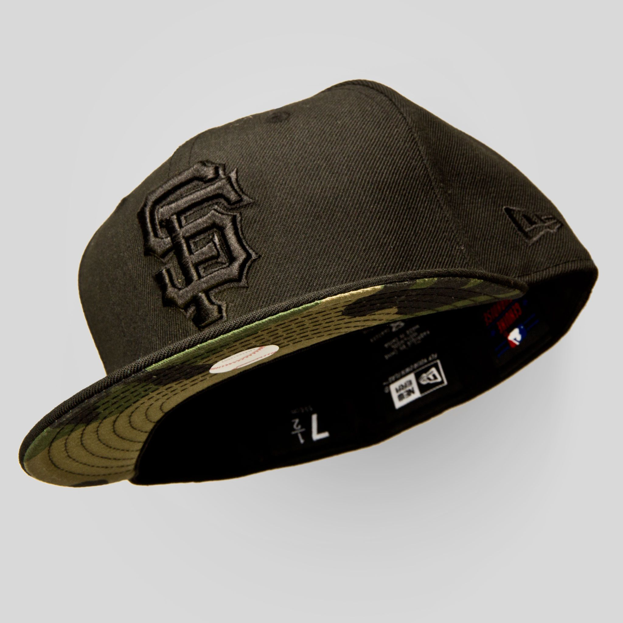Sf Giants New Era Fitted Cap In Black Camouflage New Era Fitted Fitted Caps Cap