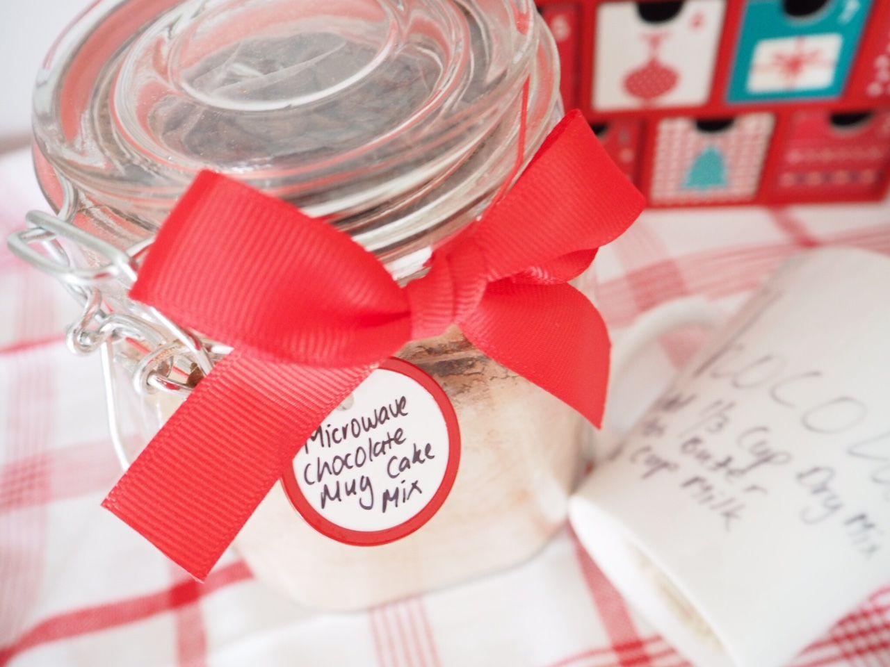 Homemade Gift - Chocolate Mug Cake Mix | Mug cake ...