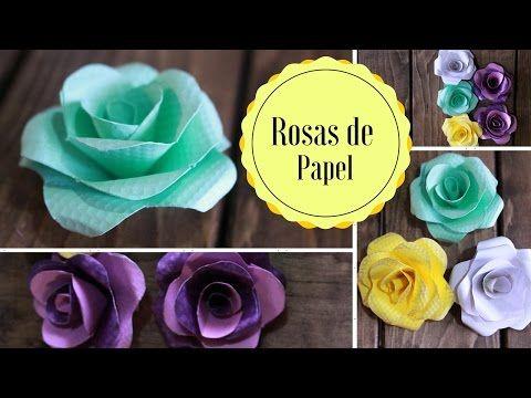 Rosas de papel fáciles de hacer - Manualidades para el hogar