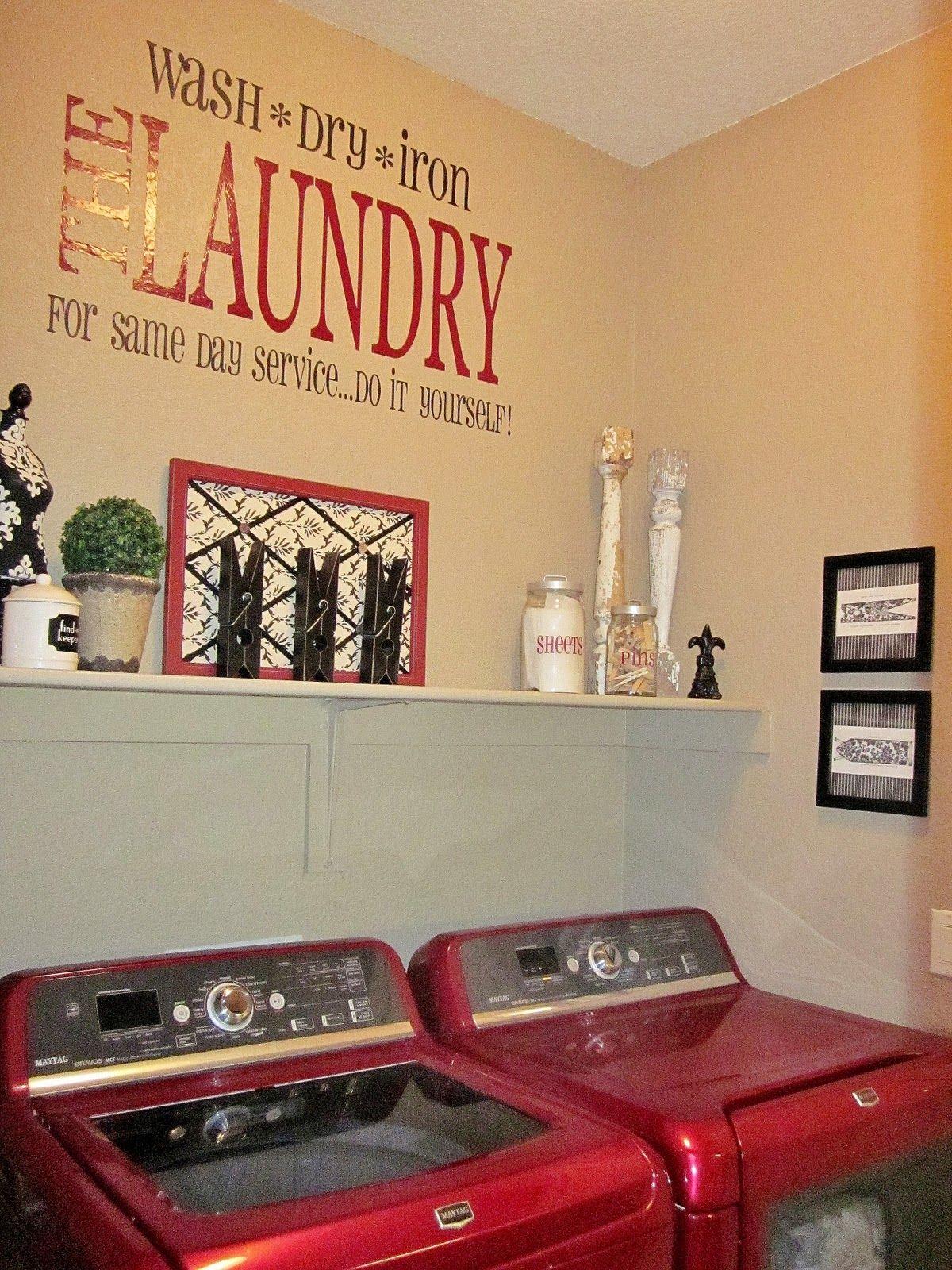 Adorable Antics Laundry Room Decorations On No Budget Laundry Room Decor Laundry Room Laundry Decor