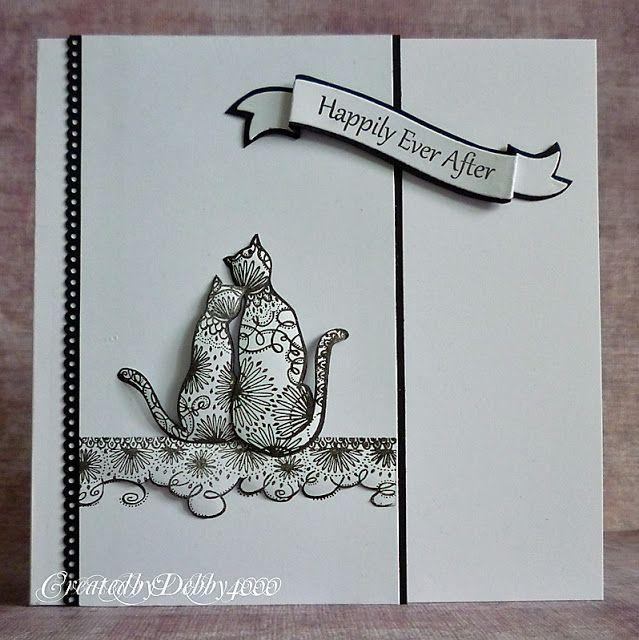 A Scrapjourney Zentangle Cats Cat Cards Wedding Cards Handmade Zentangle