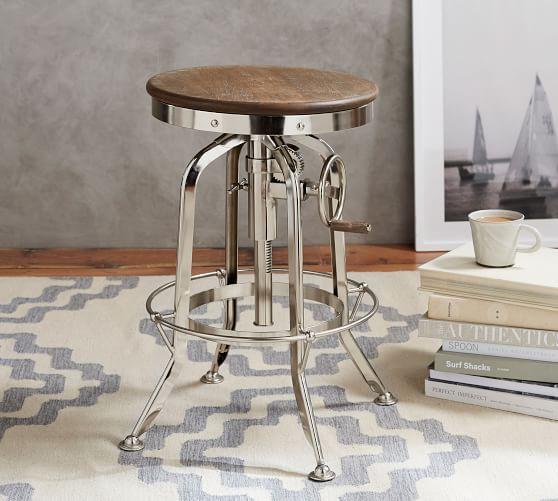 Admirable Pittsburgh Adjustable Height Bar Stool Bronze Barstools Uwap Interior Chair Design Uwaporg