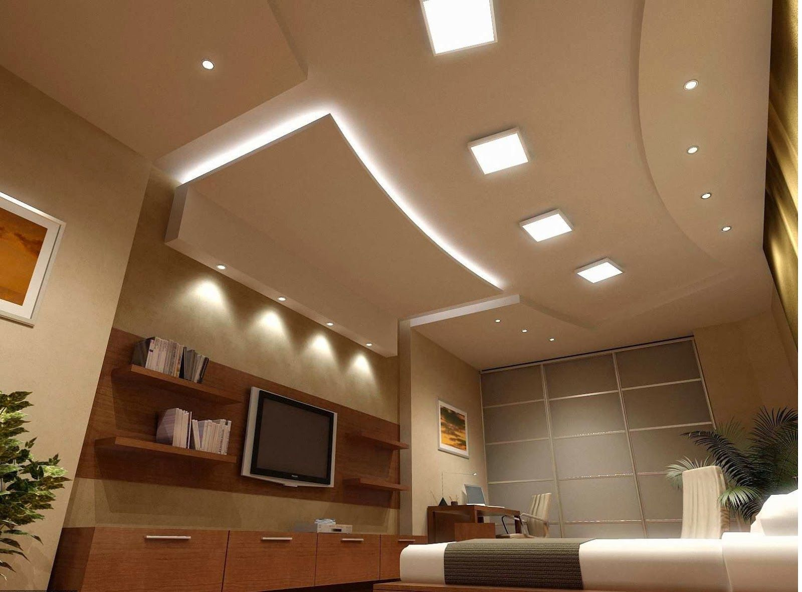 Plafon Rumah Bedroom Ceiling LightsBedroom
