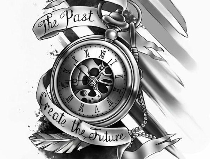 1001 Images Pour Trouver La Meilleure Idee De Tatouage Homme Tatouage Montre Tatouage Montre Gousset Tatouage Horloge