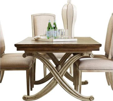 hooker furniture sanctuary rectangular dining table in dune and
