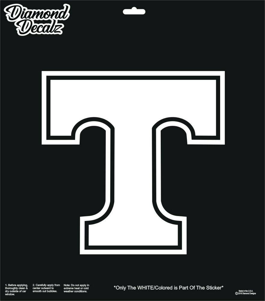 Tennessee Volunteers Vinyl Decal T Logo Car Truck Suv Window Sticker College New Diamonddecalz Window Stickers Cars Trucks Vinyl Decals [ 1000 x 882 Pixel ]