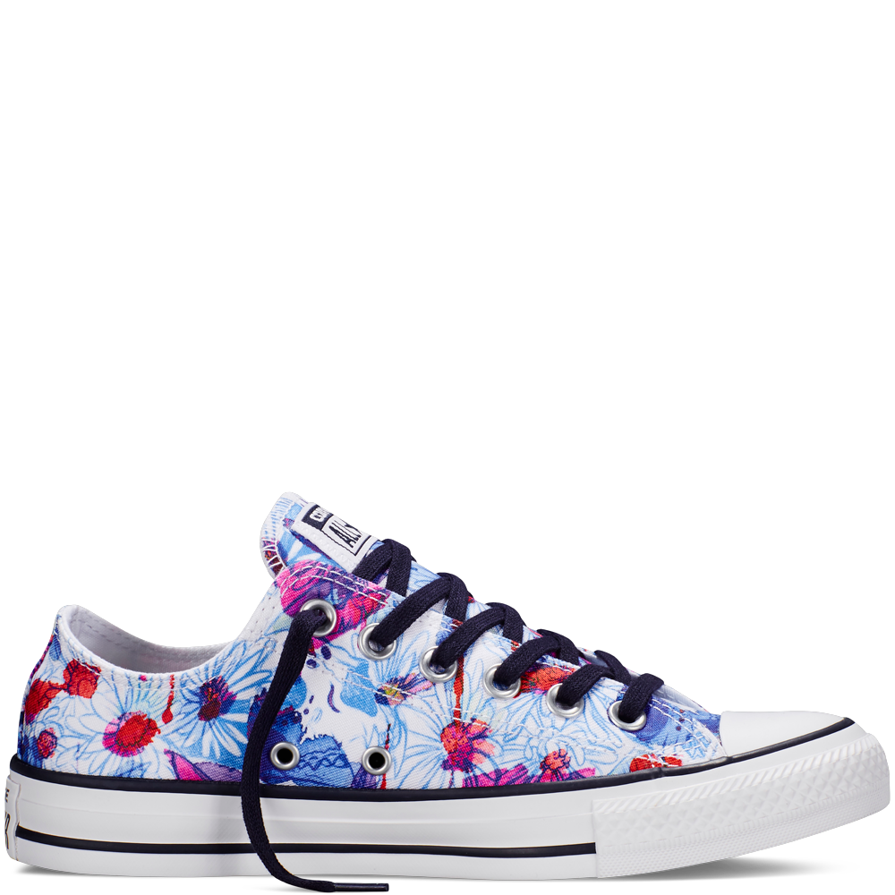 6875a34948b5 Chuck Taylor All Star Floral Print Spray Paint Blue spray paint blue ...