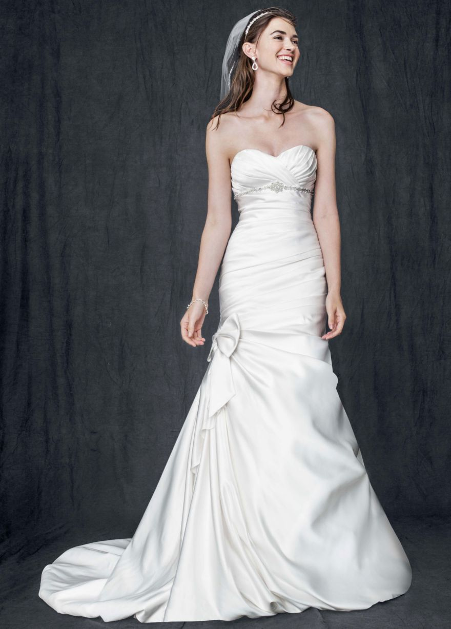 27 dresses wedding dress  I ADORE THIS DRESS Satin Mermaid Gown with Bow Detail  Davidus