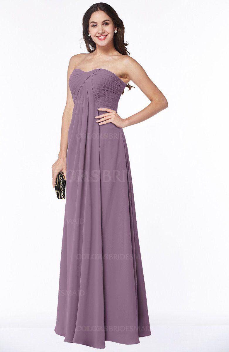 Valerian Simple A-line Sleeveless Zip up Chiffon Pleated Plus Size ...