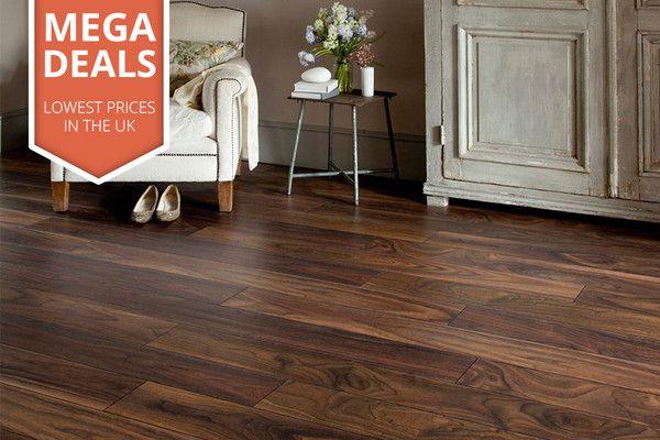 Mega Deal 10mm Laminate Flooring American Walnut House