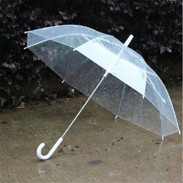 US $4.75 16% OFF|New Portable Fashion Transparent Clear Rain Umbrella Parasol PVC Dome for Wedding Party Favor-in Umbrellas from Home & Garden on Aliexpress.com | Alibaba Group #clearumbrella