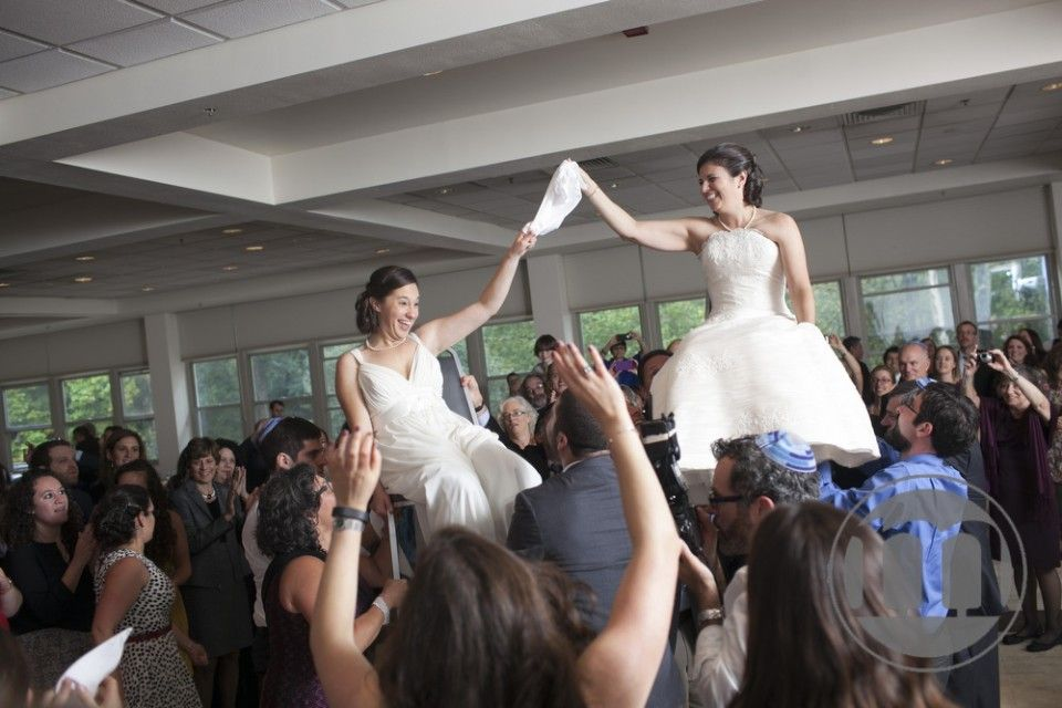 Rachel + Nikki's Jewish Wedding - love this shot of the hora  chair dance!