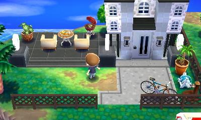のりっぺ モダンな庭のある家 Animal Crossing Happy Home