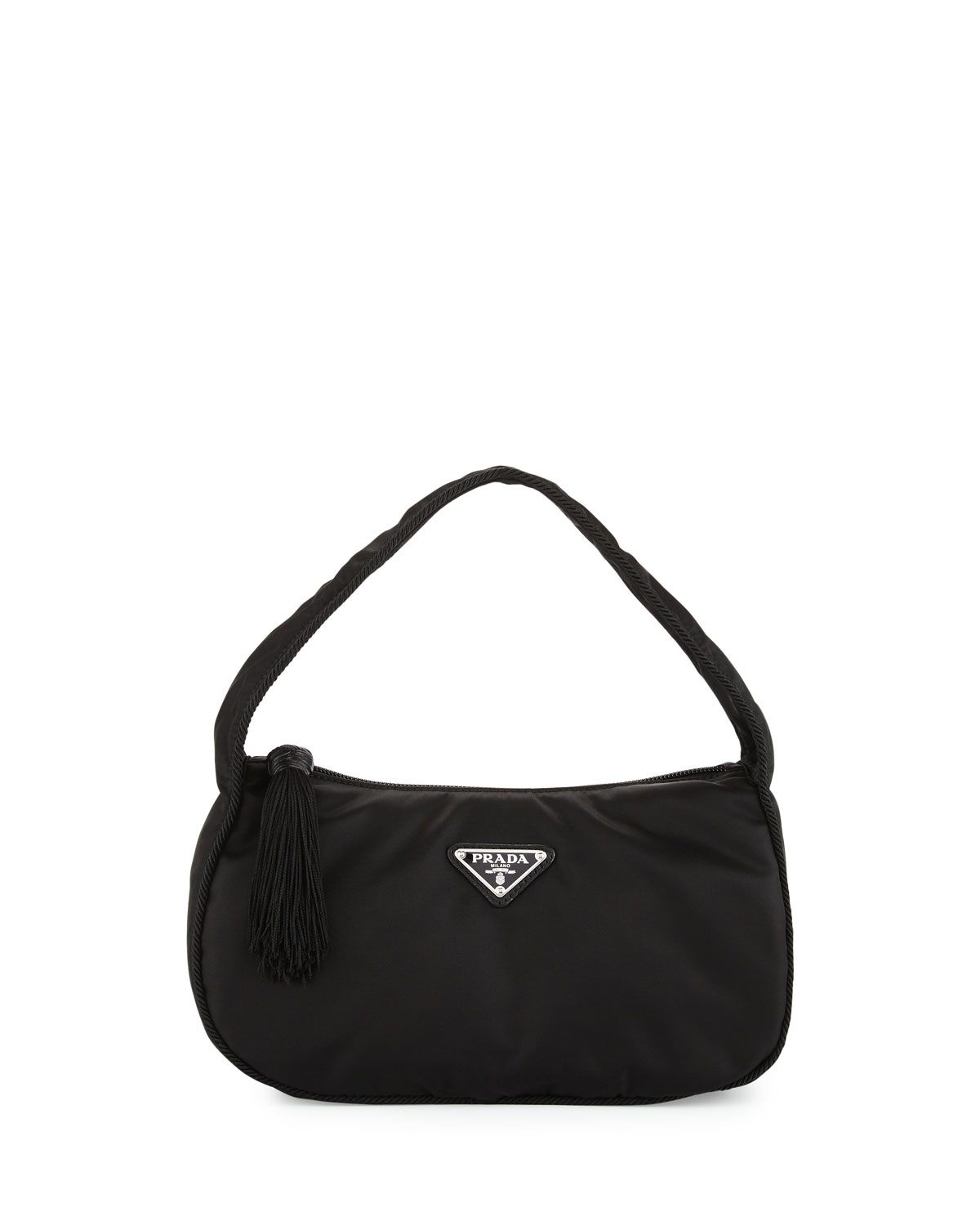 24a5997608 Prada Nylon Small Zip-Top Hobo Bag