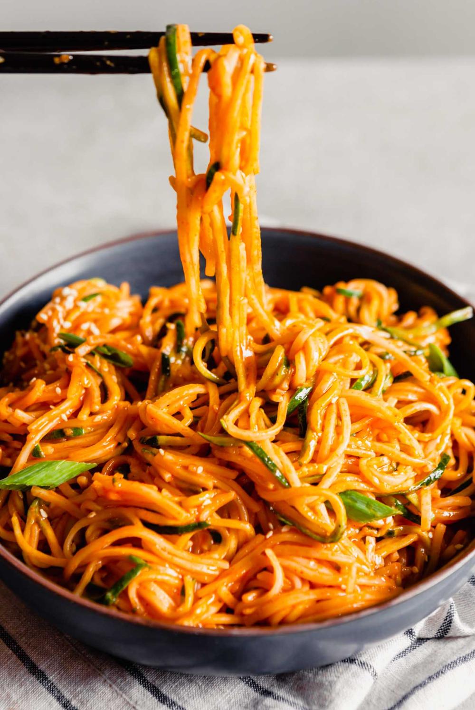 Saucy Gochujang Noodles Recipe Asian Recipes Asian Noodles Asian Dishes