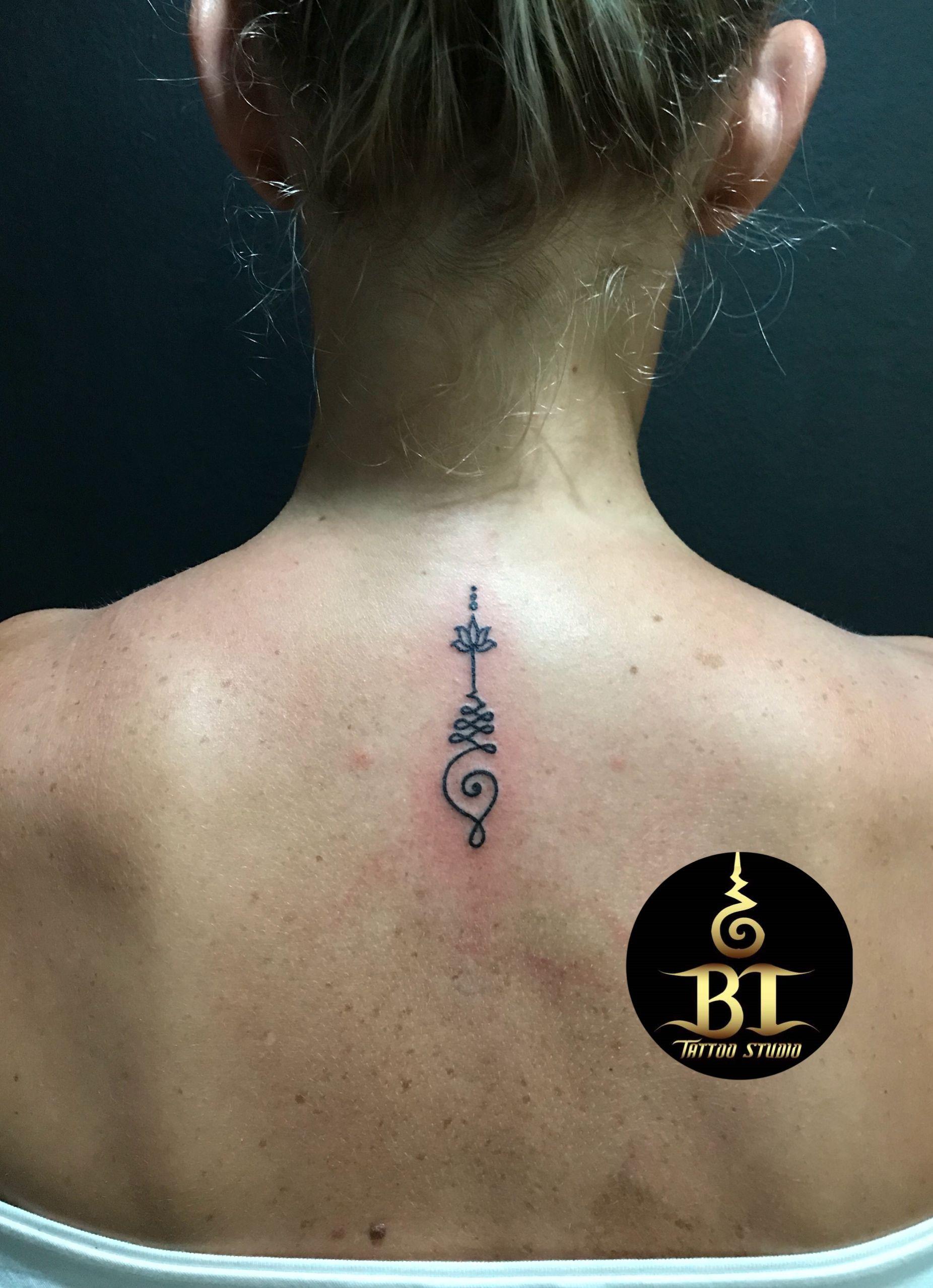 Henna Tattoo In Bangkok: Done Unalome Tattoo By Tanadol(www.bt-tattoo.com