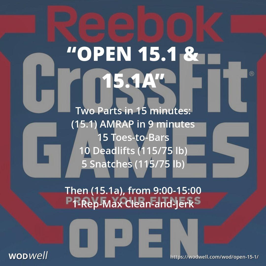 Open 15 1 15 1a Workout Crossfit Wod Wodwell Wod Crossfit Crossfit Open Workouts Wod Workout
