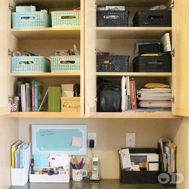 Attractive #Cabinet #Organization Tips From Somewhat Simple · Kitchen Office ...