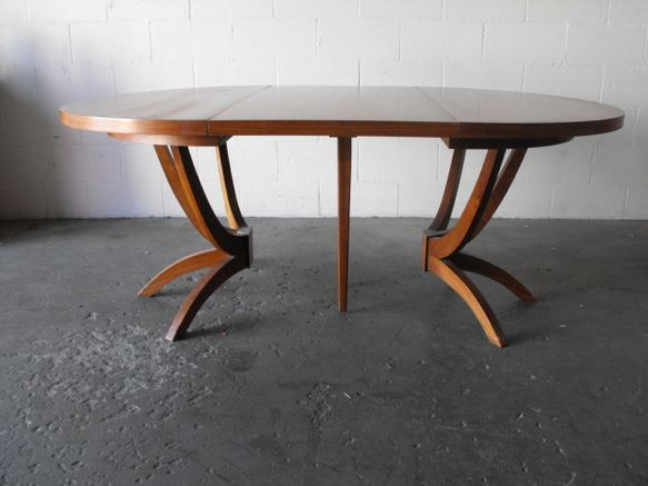 HUGE MID CENTURY CUSTOM MADE WALNUT DINING TABLE