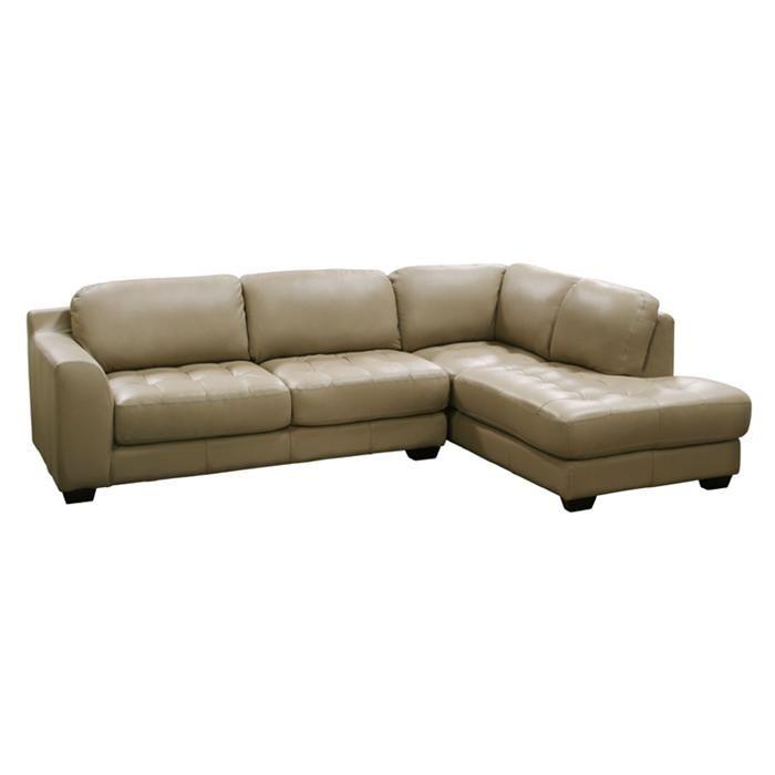 Nebraska Furniture Mart – Diamond Sofa Contemporary Tan Leather 2