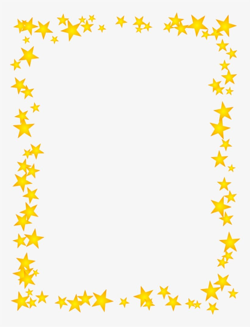 Download Gold Stars Scattered Border Borders For Paper Borders Star Border Png Image For Free The 756x990 T Borders For Paper Clip Art Borders Star Clipart