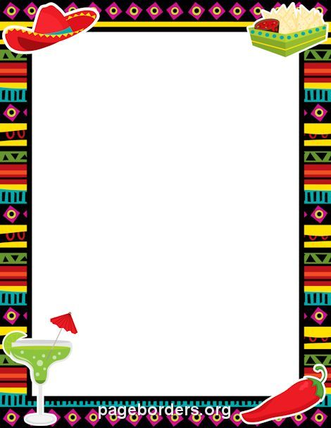 Printable fiesta border Use the border in Microsoft Word or other - free page border templates for microsoft word